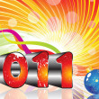 Royalty-Free Stock Vector Image: Absract colorful new year 2011 theme