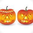 Stock vektor: Halloween.pumpkinwallpaper