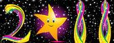 Resumen colorul 2011 con estrellas — Vector de stock