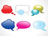 Abstract glossy web chat balloons — Stock Vector