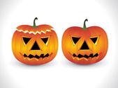 Halloween pumpkin wallpaper 1 — Stock Vector