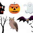 Abstract halloween icons — Imagen vectorial