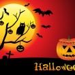 Abstract halloween wallpaper — Vector de stock #18046855