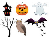 Abstract halloween icons — Stock Vector