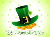 Abstract st patricks day card — Stock Vector