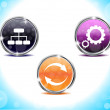Abstract shiny web buttons - Stock Vector