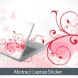 Abstract colorful laptop sticker — Stock Vector