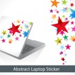 Abstract colorful laptop sticker — Stock Vector #18153373