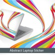 Abstract colorful laptop sticker — Stock Vector #18153407