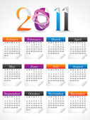 Abstract colorful calendar — Stock Vector