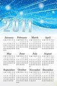 Abstract blue calendar — Stock Vector