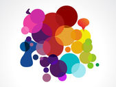 Abstract colorful circles — Stock Vector