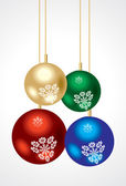 Abstract colorful glossy christmas balls — Stock Vector