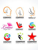 Abstract corporate logo template — Stock Vector