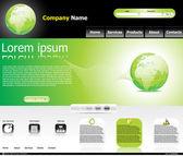 Abstract green web template — Stock Vector
