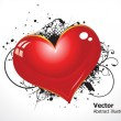 Royalty-Free Stock Vector Image: Abstract grunge heart