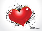 Abstract grunge heart — Stock Vector