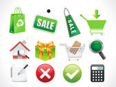 Abstrct sale icons — Stock Vector