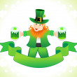 Abstract st patrics leprechaun - Stock Vector