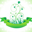 Abstract st patrics floral - Stock Vector