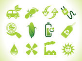 Abstract eco icons — Stock Vector