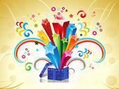 Caja mágica colorida abstracta — Vector de stock