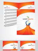 Abstract brochure design concept — Stock Vector
