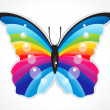 Stock Vector: Abstract colorful shiny butterfly