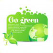 Abstract go green icon — Stock Vector