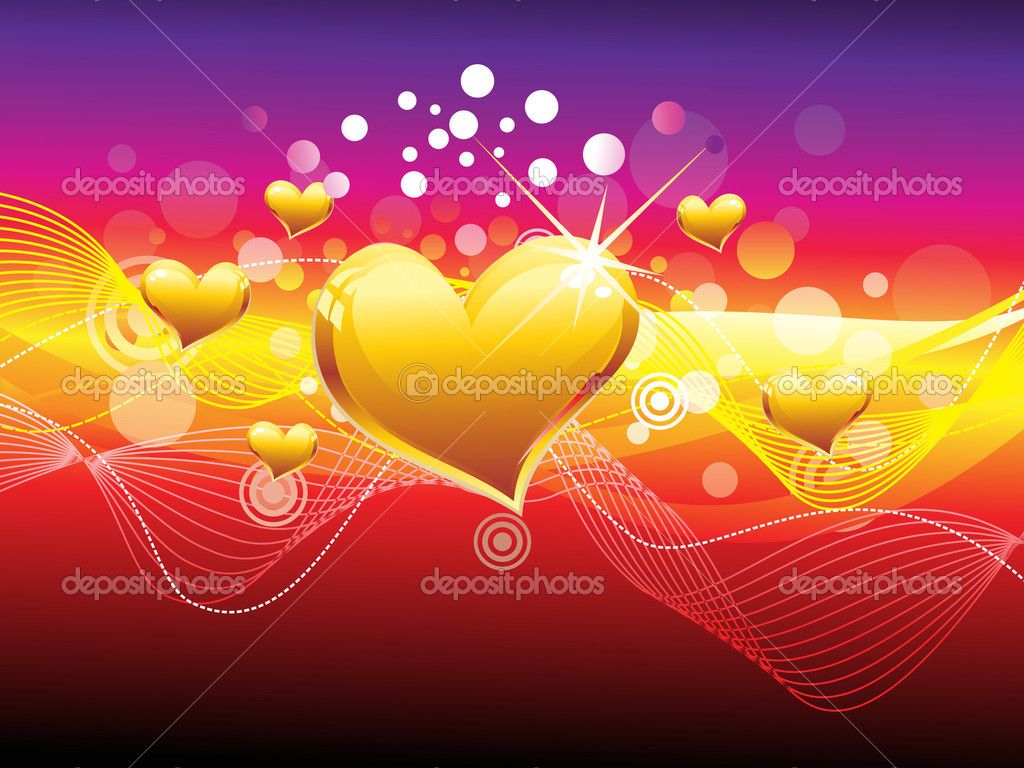 Abstract colourful heart background vector illustration — Stock Vector #18463223