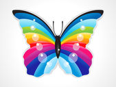 Abstract colorful shiny butterfly — Stock Vector