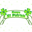 Abstract st patrick ribbon background — Stock Vector