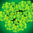 Abstract st patrick clover set — Stock Vector