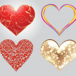 Royalty-Free Stock Imagem Vetorial: Abstract multypal heart set