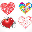 Abstract heart set - Stock Vector