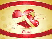 Carta da parati astratta san valentino — Vettoriale Stock