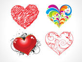 Abstract heart set — Stock Vector