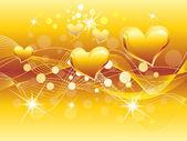 αφηρημένη χρυσή καρδιά φόντο — Διανυσματικό Αρχείο