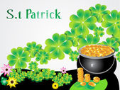 Abstract st patrick background — Stock Vector