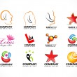 Abstract multiple logo icons - Stock Vector