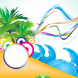 Abstract summer beach background — Stock Vector