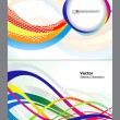 Abstract colorful wave background set — Stock Vector #19263283