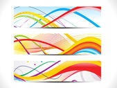 Abstract colorful web header set — Stock Vector