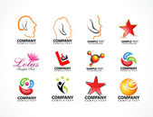 Abstract multiple logo icons — Stock Vector