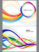 Abstract colorful wave background set — Stock Vector