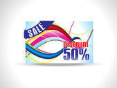 Abstract colorful discount card — Stock Vector