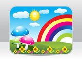 Abstracte kleurrijke natuur achtergrond — Stockvector