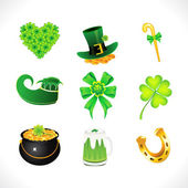 Abstract st patrick icon set — Stock Vector