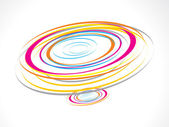 Abstract colorful circles waves background — Stock Vector
