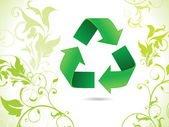 Abstract eco green recycle icon — Stock Vector